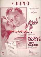 """HOT BLOOD (WILD ONE) Sheet Music """"Chino"""" Marlon Brando"""