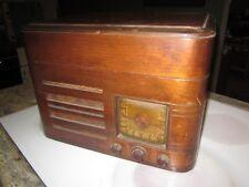 antique Crosley radio & turntable Model No. 52TP art deco tube