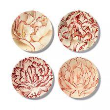 New listing John Derian for Target - 4pk Melamine Salad Plate Set Floral Print White/Red