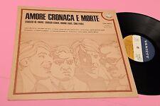DE ANDRE GABER LAUZI PAOLI LP AMORE CRONACA MORTE ORIGINALE 1973