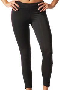 adidas Response Long Womens Running Tights Black Soft Climalite Fabric Size XS-L