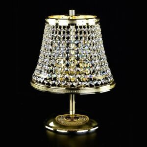 Lamp From Support For Table Lampshade Modern Crystal Of Bohemia *New* Genuine