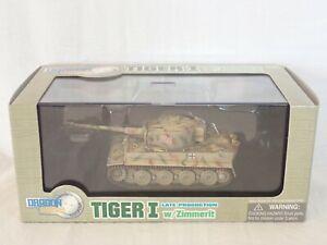 DRAGON ARMOR 60021 1:72 TIGER I LATE PRODUCTION w/ ZIMMERIT SSSPZABT 101 FRANCE