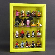 figucase Vitrina de colección para Lego Serie 71017 Minifiguras Batman Amarillo