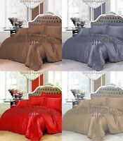 100% EGYPTIAN COTTON 500/800 THREAD COUNT DUVET COVER SET / FITTED SHEET BEDDING