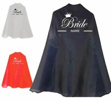 Hen Party Bride Name Personalised Printed Super Hero Cape Avenger Costume