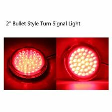 "2x 1156 Red LED Rear Turn Signal Inserts 2"" BULLET Style for Harley Davidson"