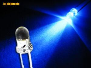25 Stück LED 3mm blau ultrahell 8000mcd