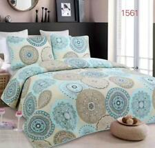 Reversible Quilted Bedspread/Coverlet Queen Size  3pcs Set 230x250cm 1561