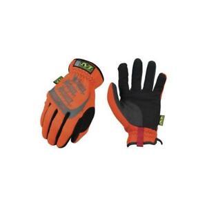 Mechanix Wear The Safety Fastfit Gloves (Black / Hi-Viz Orange) LRG