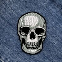 DIY Skull Embroidered Sew On Iron On Patch Badge Fabric Applique Craft Transfer