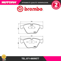 P06046 Kit pastiglie freno a disco ant Bmw (MARCA-BREMBO)
