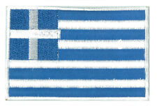 Patch badge patche écusson Grèce Greece 85 x 55 mm brodé thermocollant