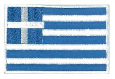 Patch badge patche écusson Grèce Greece 85 x 55 mm brodé thermocollant