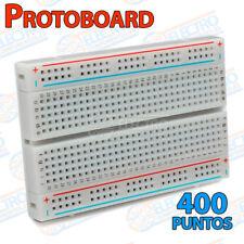 Protoboard 400 puntos con lineas contactos breadboard ARDUINO prototipo 400p