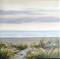 Meer See Landschaft Acrylbild auf Leinwand ORIGINAL Malerei, Strand, Lynovskaja