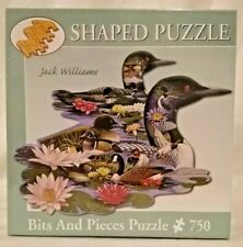 Bits And Pieces 47696 Graceful Loons 750 piece shaped jigsaw puzzle sealed