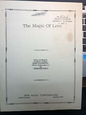 New ListingMassachusetts 1939 Magic Collectible Harry Blackstone sheet music !