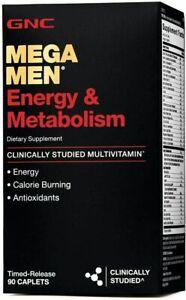 GNC Mega Men Energy & Metabolism Vitamins Dietary Supplements Caplets 90 Count