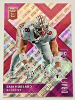 2018 PANINI ELITE DRAFT PICKS SAM HUBBARD ROOKIE #D/99 RC