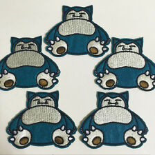 5pcs Pokemon GO Pikachu Snorlax Iron On Embroidered Patches Appliques Crafts BIN