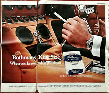 Rothmans King Size When You Know What You Want Vintage Advertisement 1976