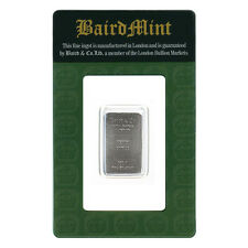 1/10 Oz Rhodium Bar Baird and Co .999 Pure Rh