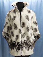 Chickadees Bird Ultra Plush Fleece Coat Jacket New S M L XL 2X 3X Black Mountain