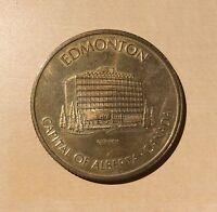 Edmonton City Hall Capital Of Alberta 1978 Commonwealth Games Medallion