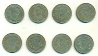 Burma 1952 - 66 full set of 50 Pyas with security edge XF  a scarce 8 coins lot