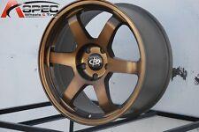 17X8 +35 ROTA GRID 5X114.3 SPORT BRONZE WHEELS Fits Accord V6 Civic Si CRZ S2000