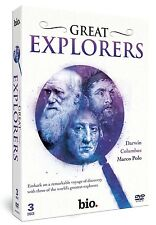 Great Explorers (New 3 DVD set) Marco Polo Christopher Columbus Charles Darwin