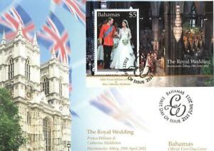 BAHAMAS 2011 21ST JUNE ROYAL WEDDING M/S  FDC