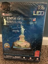 NEW CubicFun New York Statue of Liberty 3D LED Lighted Puzzle Model age 14+