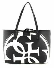 GUESS Bobbi Inside Out Tote Shopper Tasche Black Multi / Black Schwarz Weiß