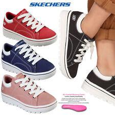 Skechers Womens Street Cleat Bring It Back Memory Foam Canvas Sneakers Trainers