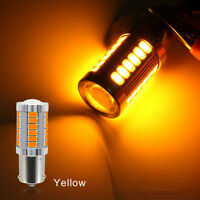 2X Super Bright Amber P21W 1156 BA15S LED Bulb 5630 33SMD Car Light bulb