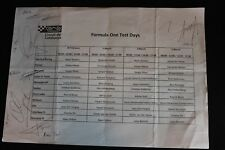 Program Formula One Test Days Circuit de Catalunya February / March 2013 (NA)