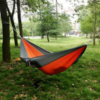 Hot Portable Parachute Nylon Fabric Travel Camping Hammock Chiar For Double Two