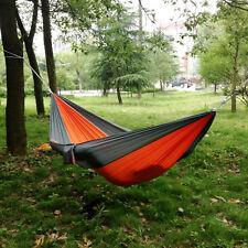 HOT Portatile Paracadute tessuto di nylon Viaggio Campeggio Amaca chiar DOPPIO PER DUE