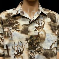 RedHead Shirt Mens XL Deer Hunting Buck Cotton Pattern Matched Pocket