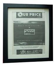 More details for runrig+once in lifetime+live+poster+ad+rare original 1988+framed+fast world ship