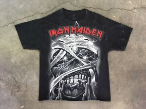 Vintage Iron Maiden Full Print AOP T Shirt Large 2011 Rare FastShip Double Sided