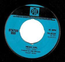 STATUS QUO Mean Girl Vinyl Record 7 Inch Pye 7N 45229 1971