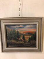 Vintage Painting Oil/Canvas Rock Of Jerome, Emma Martin.C12pix4detail.MAKE OFFER