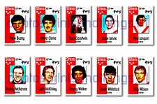 AIRDRIE - STARS OF THE 70's - Collectable postcard set # 1