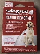 Safe Guard 4 Canine Dewormer Large Dog Roundworm Hookworm Tapeworm Whipworm