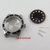 41mm black bezel sapphire glass Watch Case +dial+hand fit ETA 2824 2836 MOVEMENT