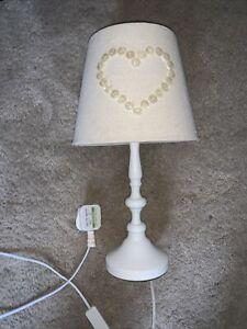 Cream White  Heart Bedside Lamp
