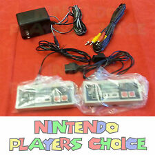 AC Adapter Power Cord + AV Video Cables + 2 Controllers for the Nintendo NES